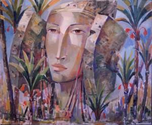 Pintura - Nacida entre palmeras 2906