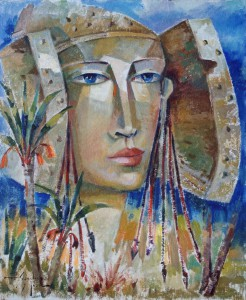 Pintura - Dos palmeras y la Dama 3106
