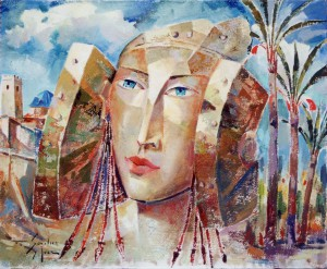 Pintura - La Dama mira a Santa María 4206