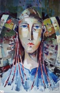 Pintura - Dama de Elche en azul 4306