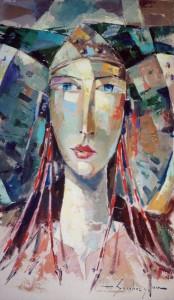 Pintura - Dama de Elche en rojo 4406