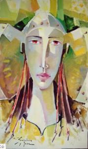Pintura - Dama en amarillo 4606