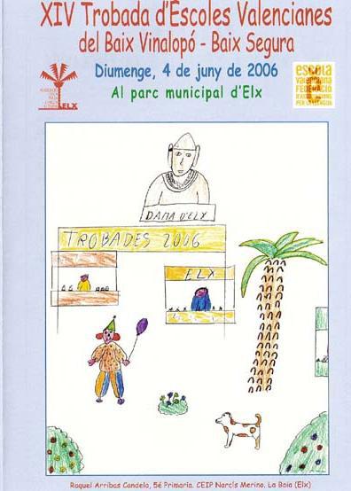 Cartel - XIV Trobada d'Escoles Valencianes del Baix Vinalopó-Baix Segura