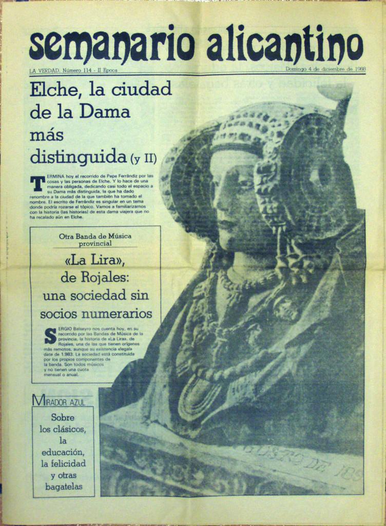 Libro o impreso - Semanario Alicantino