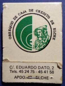 Objeto - Caja de cerillas publicitaria