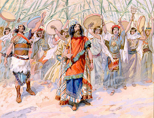 Pintura - Festivities in honor of David