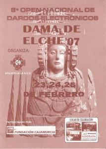 Cartel - 8ª Open Nacional de Dardos Electrónicos Dama de Elche 07