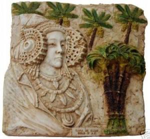 Objeto - Dama y palmeras