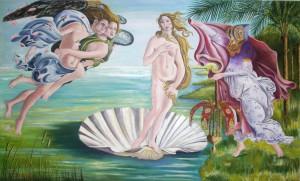 Pintura - La Dama de Elche recibiendo a Venus