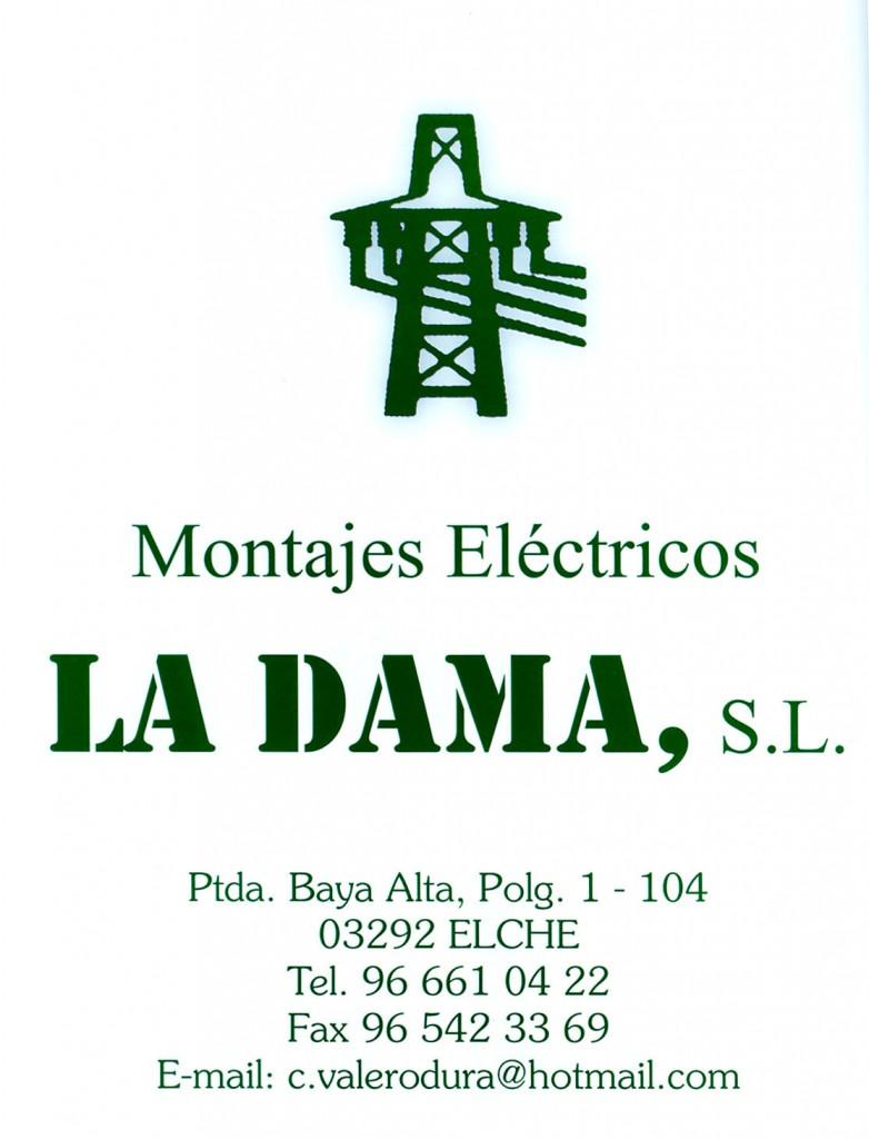 Anuncio - Montajes eléctricos La Dama