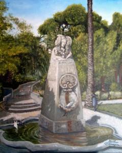 Pintura - Dama de Elche de los Jardines de Viveros