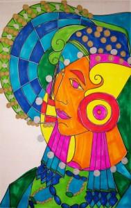 Dibujo - Boceto Cartel Dama de Elche