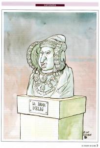 Dibujo - Caricatura Dama-Zaplana