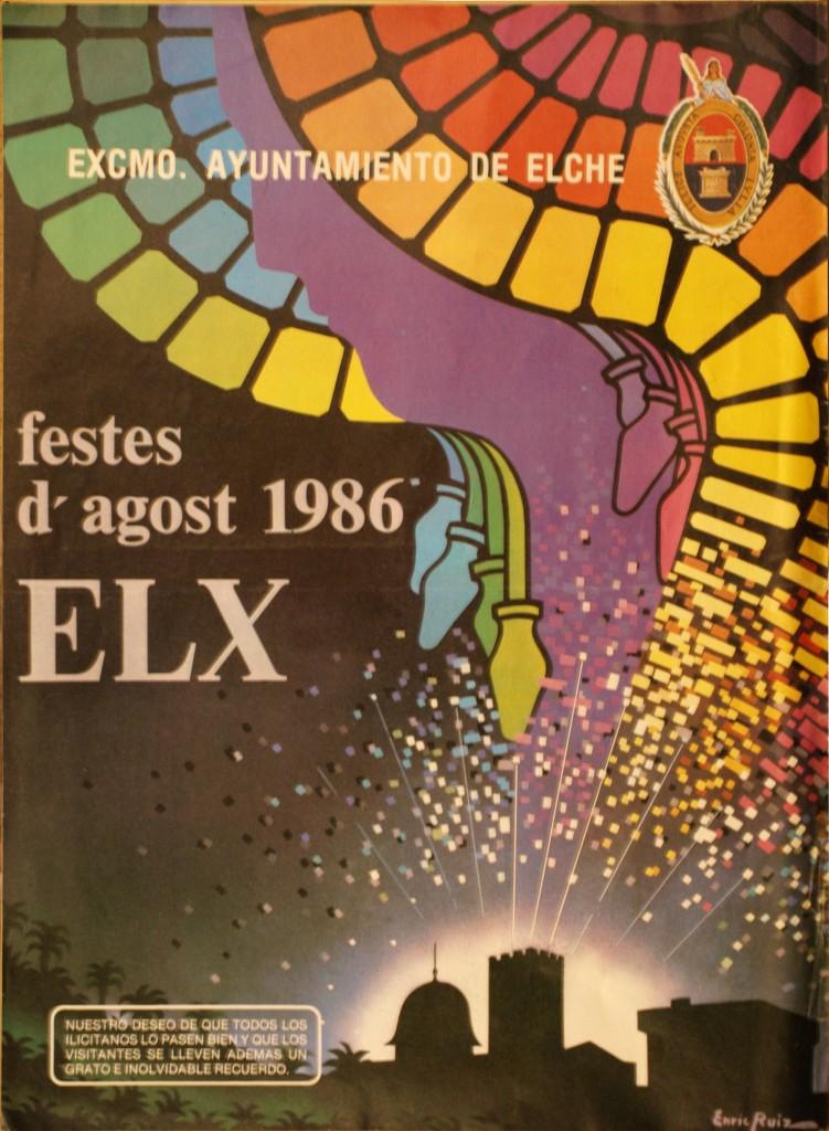 Cartel - Fiestas de Elche de 1986