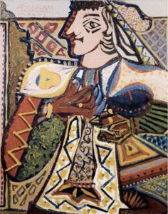 Pintura - Queen of Hearts (Dame of Elche)