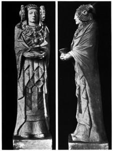 Escultura - Escultura femenina oferente