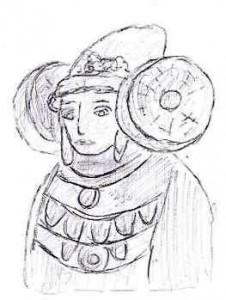 Dibujo - dama-elche-gris