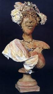 Escultura - Dama de Elche con joyas barrocas