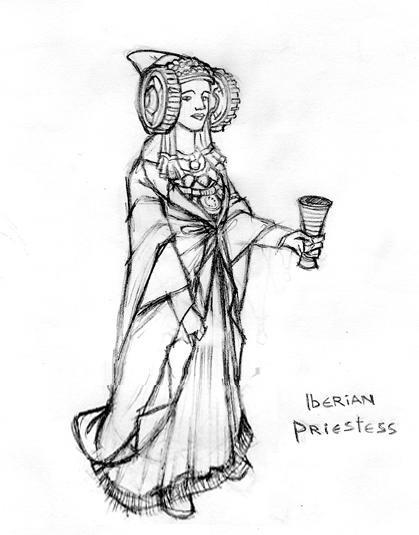 Dibujo - Iberian Priestess
