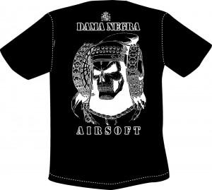 Dibujo - Camiseta Dama Negra
