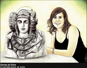 Dibujo - Tríptico Ilicitano: La Dama de Elche