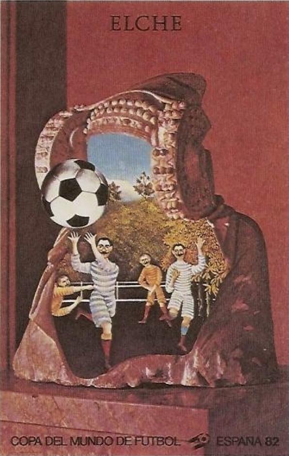 Tarjeta postal - La Dama y el aduanero - Mundial de Fútbol