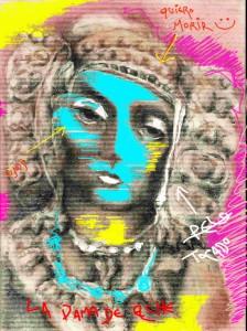 Pintura - La Dama de Elche muerta