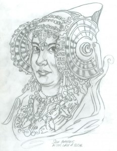 Dibujo - Self portrait as the_lady_of_elche