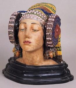 Cerámica - Escultura de cabeza femenina