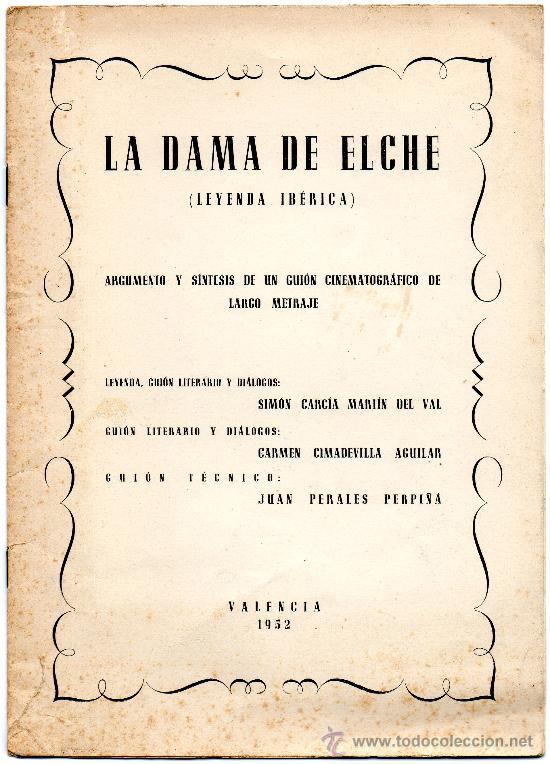 Libro o impreso - La Dama de Elche (Leyenda Ibérica)