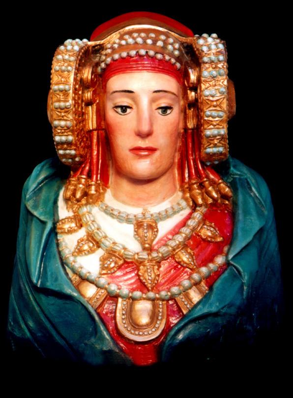 Escultura - Recreación de la policromía de la Dama de Elche