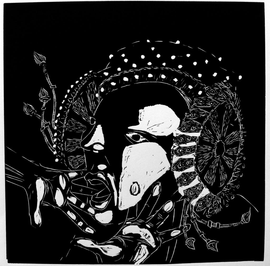 Grabado - La Dame d'Elche