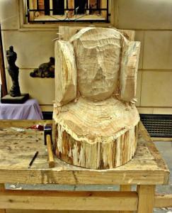 Escultura - Dama de Elche (inacabada)