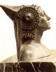 "Escultura - Escultura de busto femenino ""Pagania"""