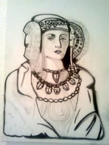 Pintura - WIP I: La Dama de Elche (inacabada)