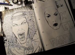 Dibujo - Boceto Fanta_Elx