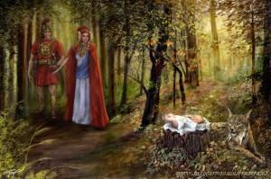 """Pintura - """"El espíritu del lince"""" (fragmento)"""