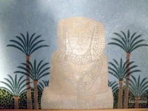 Pintura - Dama de Elche y palmeral