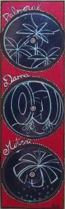 Escultura - Panel con 3 CD Palmeral