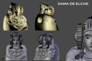 Dibujo - Dama de Elche - Lady of Elche