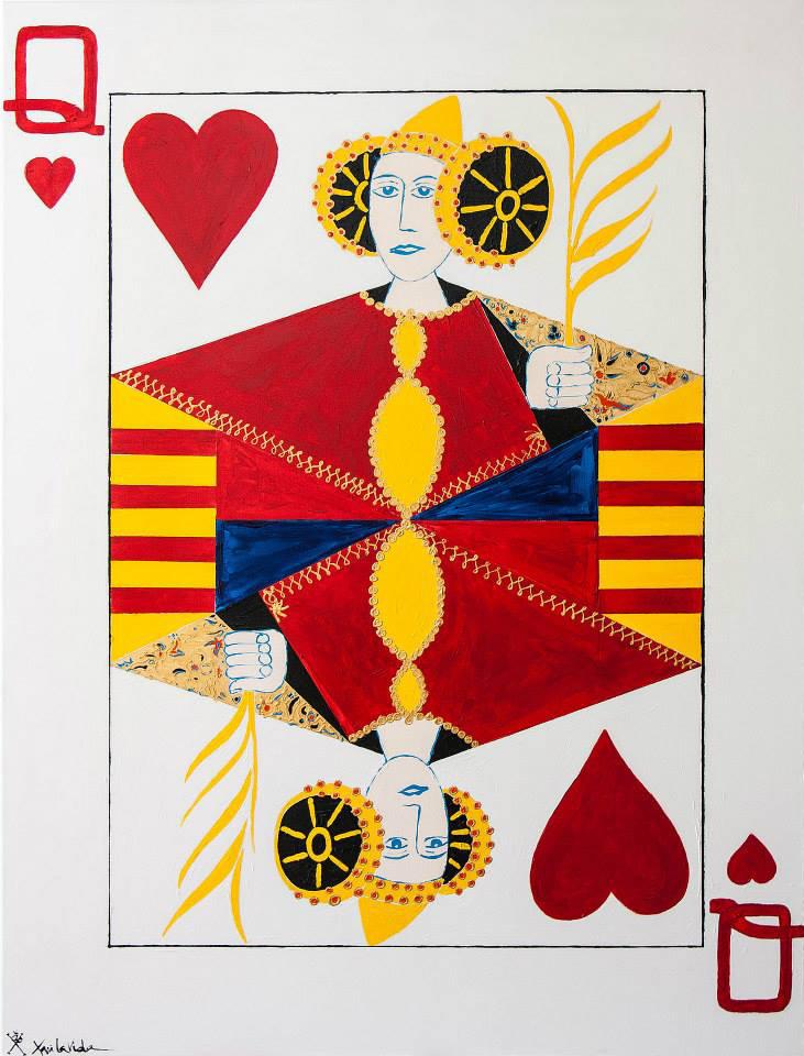 Pintura - La Dama (La Reina) de Corazones