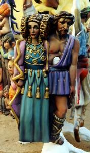 Escultura - Dama de Elche hoguera 2001