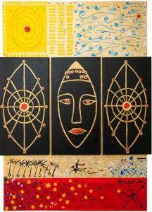 Pintura - La Dama y Canto en Momentos de Elche