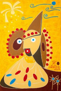 Pintura - La Dama de Elche y del Espacio (Actualizada)