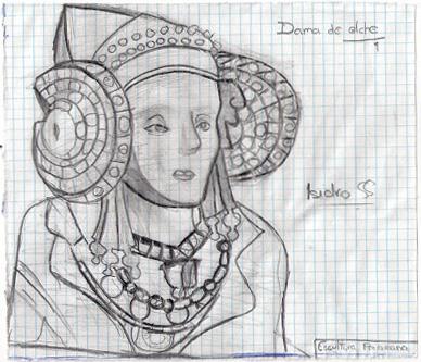 Dibujo - Arte Ibero - Dama de Elche