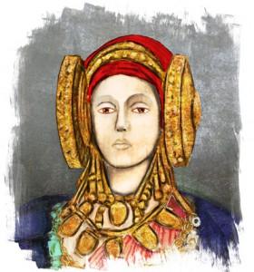 Pintura - Recreació de la dama d'Elx