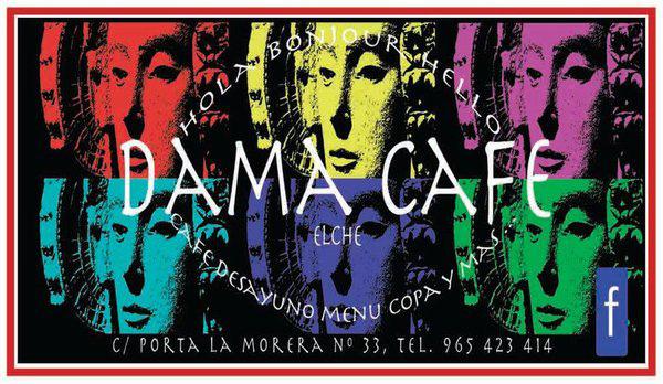 Cartel - Cafetería Dama