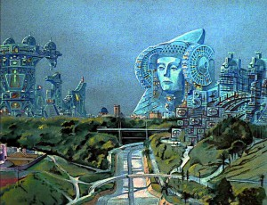 Pintura - Elche distrópica; el futuro (2014)