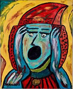 """Pintura - La Dama de Elche """"El horror"""""""