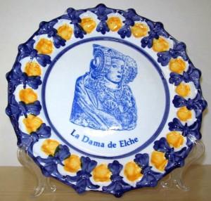 Objeto - Plato La Dama de Elche